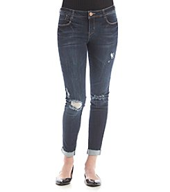 Crave Fame Destructed Raw Cuff Jeans