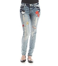 Crave Fame Patched Jeans