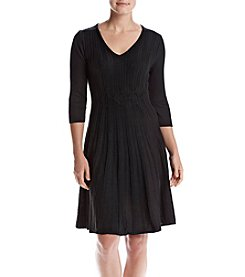 Connected® Fit And Flare Sweater Dress