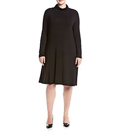 Lennie Plus Size Turtle Neck Trapeze Dress