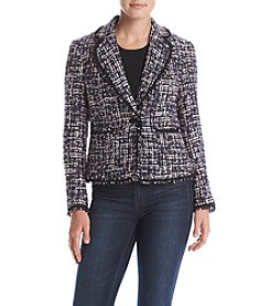 Anne Klein® Two Pocket Collared Jacket