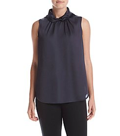 Anne Klein® Twist Collar Blouse