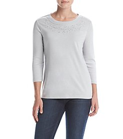 Studio Works® Embroidered Pullover Top