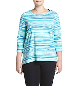 Studio Works® Plus Size Printed Pullover Top