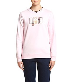 Breckenridge® Petites' Pretty Kitty Fleece Sweatshirt