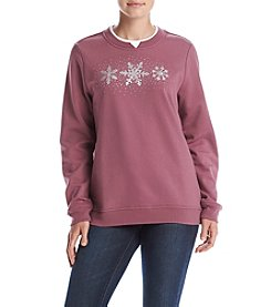 Breckenridge® Sensational Snowflake Fleece Sweatshirt
