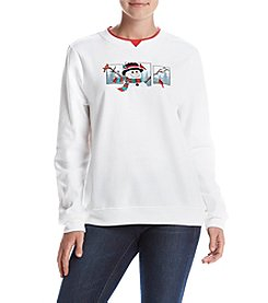 Breckenridge® Snowman Fleece Sweatshirt