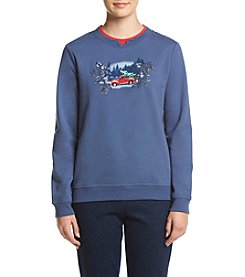 Breckenridge® Petites' Little Truck Fleece Sweatshirt