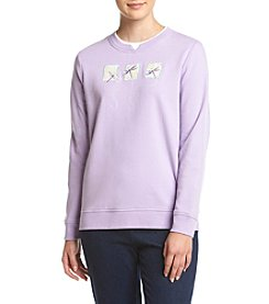 Breckenridge® Petites' Dragonfly Fleece Sweatshirt