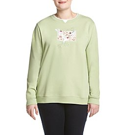 Breckenridge® Plus Size Hummingbird Fleece Sweatshirt