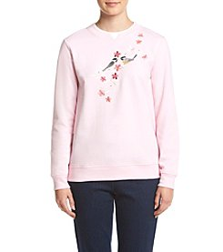 Breckenridge® Petites' Chicks And Vine Fleece Sweatshirt