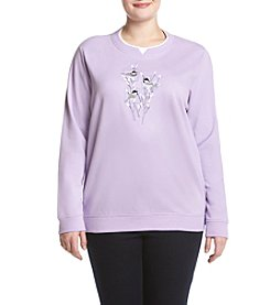 Breckenridge® Plus Size Willow Chicks Fleece Sweatshirt