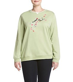 Breckenridge® Plus Size Chicks And Vines Fleece Sweatshirt