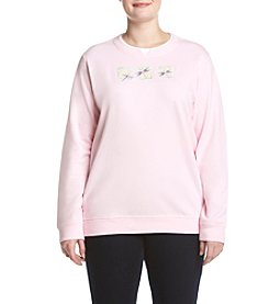 Breckenridge® Plus Size Dragonfly Fleece Sweatshirt
