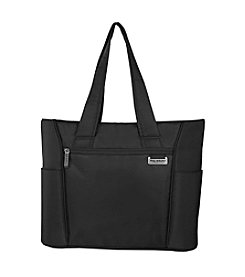 Ricardo Beverly Hills Del Mar Black Expandable Shopper Tote