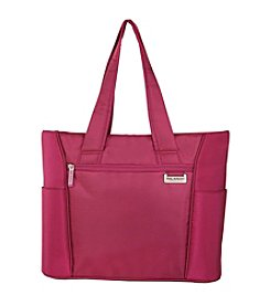 Ricardo Beverly Hills Del Mar Fuchsia Pink Expandable Shopper Tote