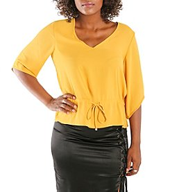 Poetic Justice Maggie V-neck Chiffon Top