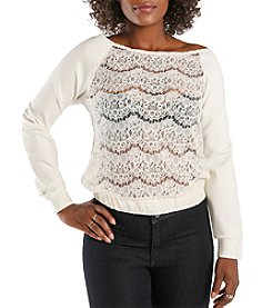 Poetic Justice Nia Lace and Ponte Sleeve Top