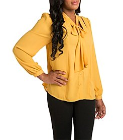 Poetic Justice Tasha Tie Collar Top