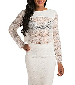 Standard & Practices Sydney Long Sleeve Lace Top