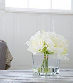 Pure Garden Lily Floral Arrangement with Glass Vase