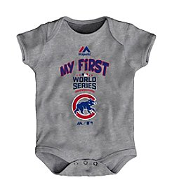Majestic MLB® Chicago Cubs Baby My First World Series Grey Creeper