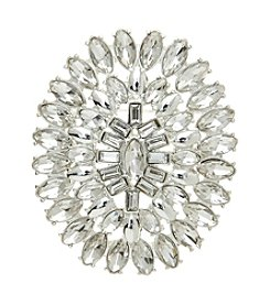 Napier® Boxed Silvertone Flower Brooch Pin