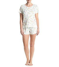 Zoe&Bella @BT Feather Pajama Short Set