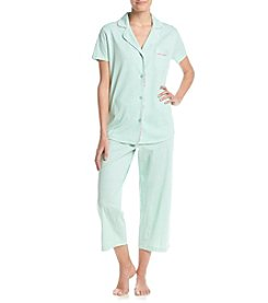 Intimate Essentials® Notch Collar Capri Pajama Set