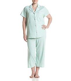 Intimate Essentials® Notch Collar Capri Pajama Set