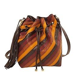 Imoshion Striped Pieced Bucket Bag with Crossbody Strap