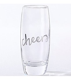 Kate Aspen Set of 4 Silver Cheers 10-oz. Stemless Champagne Glass