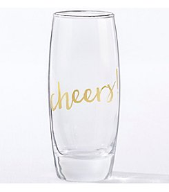 Kate Aspen Set of 4 Gold Cheers 10-oz. Stemless Champagne Glass
