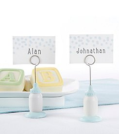 Kate Aspen Set of 12 Classic Blue Baby Bottle Place Card Holders