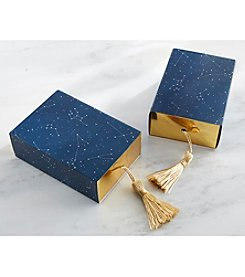 Kate Aspen Set of 24 Constellation Slide Favor Boxes with Gold Foil and Tassel