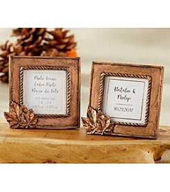 Kate Aspen Set of 12 Copper Frames with Leaf