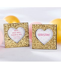 Kate Aspen Set of 12 Gold Glitter Heart Frames