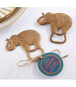 Kate Aspen Set of 12 Lucky Golden Elephant Bottle Openers