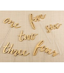 Kate Aspen Gold Calligraphy 1-6 Table Numbers