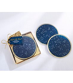 Kate Aspen Set of 12 Under the Stars Glass Coasters