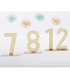 Kate Aspen Gold Glitter Acrylic 7-12 Table Numbers