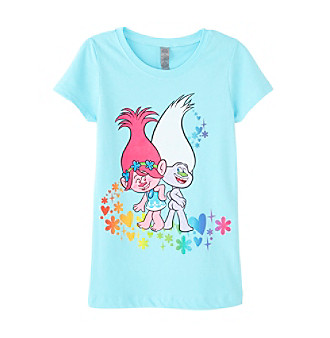 UPC 758315072150 product image for DreamWorks® Trolls Girls' 2T-6X Rainbow Troll Short Sleeve Tee | upcitemdb.com