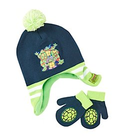 Nickelodeon® Boys' Ninja Turtle Hat and Mittens Set