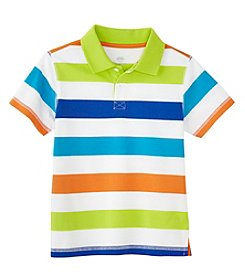 Mix & Match Boys' 4-8 Short Sleeve Striped Polo