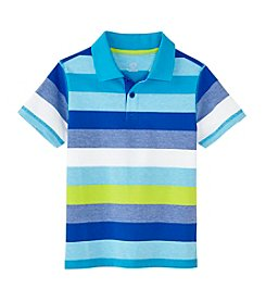 Mix & Match Boys' 2T-8 Short Sleeve Striped Polo