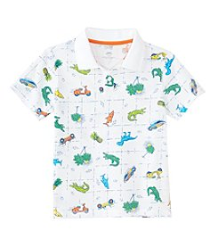 Mix & Match Boys' 2T-8 Short Sleeve Printed Polo