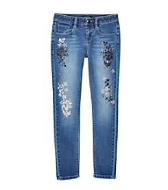 Squeeze® Girls' 7-16 Medium Gold Foil Accents Skinny Jeans