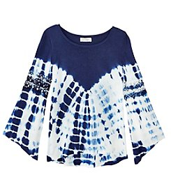 Jessica Simpson Girls' 7-16 Tie Dye Bell Sleeve Top
