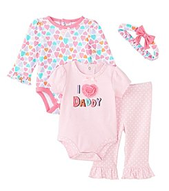 Cuddle Bear® Baby Girls' 4-Piece Love Daddy Gifting Set