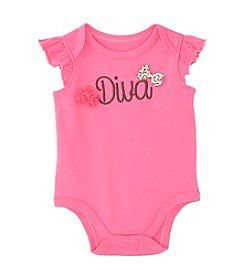 Cuddle Bear® Baby Girls' Diva With Bows Bodysuit